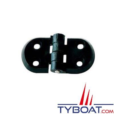PLASTIMO - Charnière polyamide noir 70 x 40 mm - Axe inox - par 2