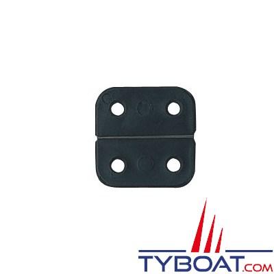 PLASTIMO - Charnières polyamide noir 40 x 75 mm - Axe inox - sachet de 10