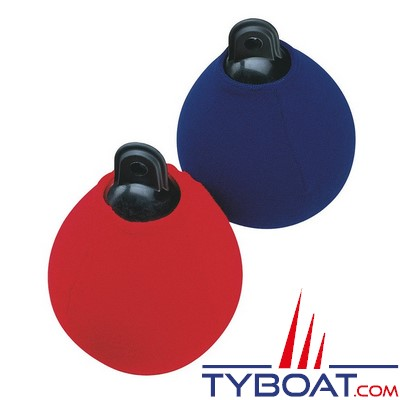 PLASTIMO - Chaussette pare-battage sphérique A1 - Polyester - Lavable - Ø 31 cm - Rouge