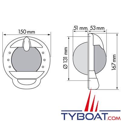 Plastimo - Compas Contest 101 cloison inclinée 10/25° noir rose noire