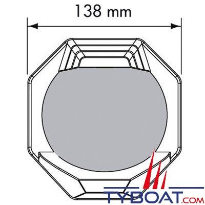 Plastimo - Compas Contest 130 cloison inclinée 10/25° noir rose noire