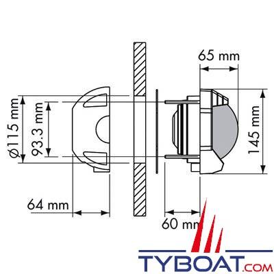 Plastimo - Compas Contest 130 cloison verticale noir rose noire