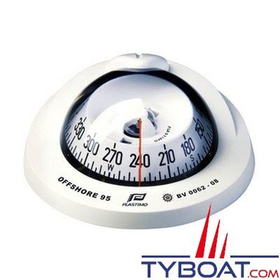 Plastimo - Compas Offshore  95 à encastrer - blanc rose conique blanche