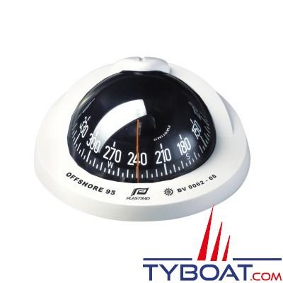 Plastimo - Compas Offshore  95 à encastrer - blanc rose conique noire