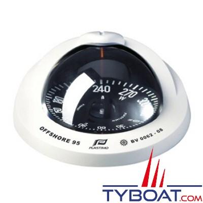Plastimo - Compas Offshore  95 à encastrer - blanc rose plate noire