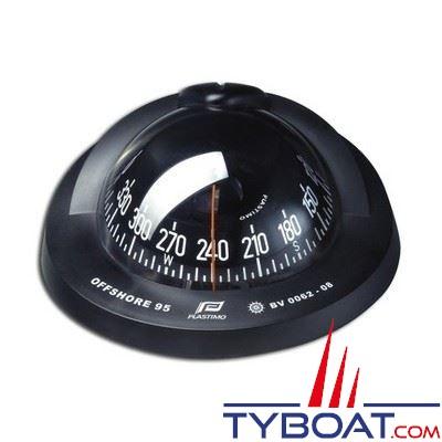 Plastimo - Compas Offshore  95 à encastrer - noir rose plate noire