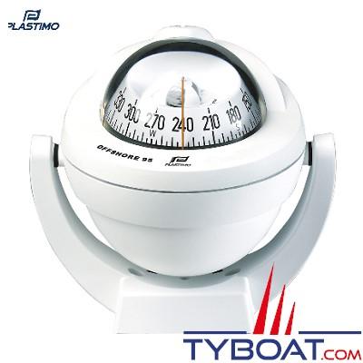Plastimo - Compas Offshore 95 sur étrier - blanc rose conique blanche