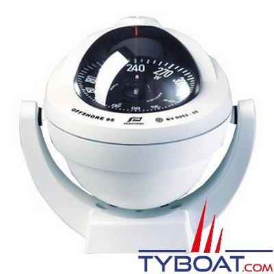 Plastimo - Compas Offshore 95 sur étrier - blanc rose plate noire