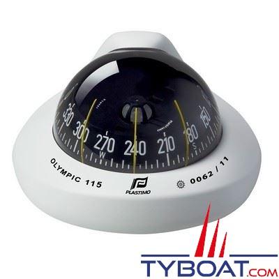 Plastimo - Compas Olympic 115 à encastrer plan horizontal - blanc rose plate noire
