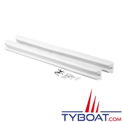 PLASTIMO - FENDER LIST - 2 Protections de ponton - Blanc - 94 x 8.5 x 4.4 cm