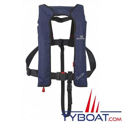 Plastimo - QUICKFIT 165N - Gilet gonflable automatique à cartouche hydrosoluble - Marine - Sans harnais avec sous-cutale