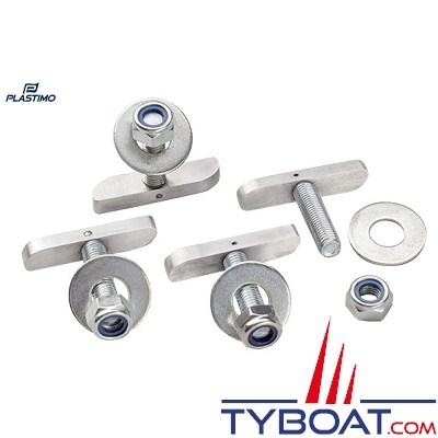 PLASTIMO - Kit de 4 fixations - Inox 316 - Pour bumper de ponton
