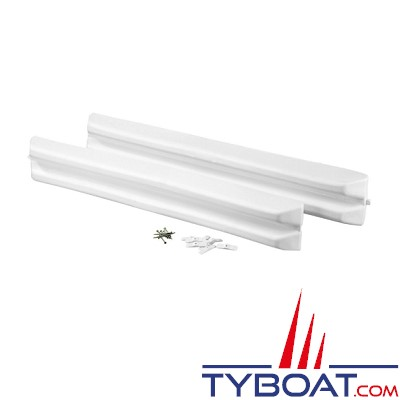 PLASTIMO - MARINA FENDER - 2 Protections de ponton - Blanc - 100 x 14 x 6 cm