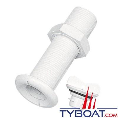 Plastimo - Nâble polyamide blanc pour vissage sur double coque - 1 unité