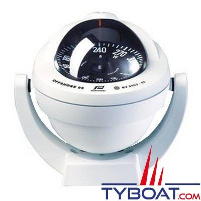 Plastimo Offshore 95 - Compas  sur étrier - blanc rose conique noire