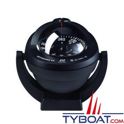 Plastimo Offshore 95 - Compas  sur étrier  - noir rose plate noire