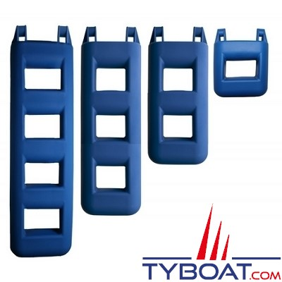 PLASTIMO - Pare-battage échelle polyvalent - 4 marches - Bleu
