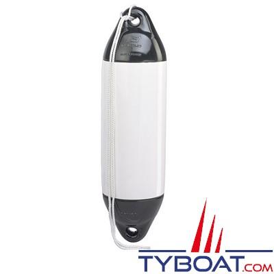 PLASTIMO - Pare-battage PERFORMANCE Bicolore - PVC souple - Résistant UV - 40 centimètres - Blanc et noir