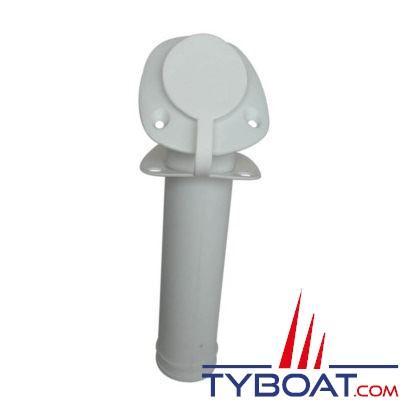 PLASTIMO - Porte-cannes polyamide à encastrer, livré avec bouchon - Long. 230mm - Ø 40mm - blanc