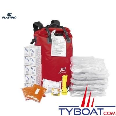 Plastimo - Sacs de survie étanche - Grab bag - 8 personnes - Sac à dos
