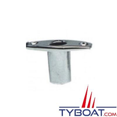 Plastimo - Support à encastrer pour dames de nage Ø 60 mm - Tige Ø13,5 mm - Laiton chromé