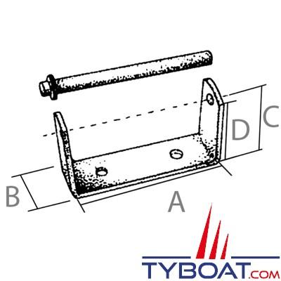 PLASTIMO - Support de diabolo - Longueur 137 mm (Sans axe)