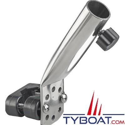 Plastimo - Support de hampe inox - 90mm - pour hampe Ø22/25 - inclinaison 65°