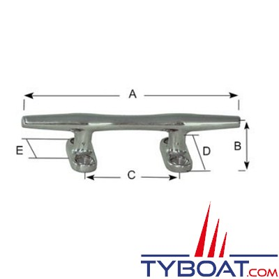 PLASTIMO - Taquet inox - Longueur 102 mm