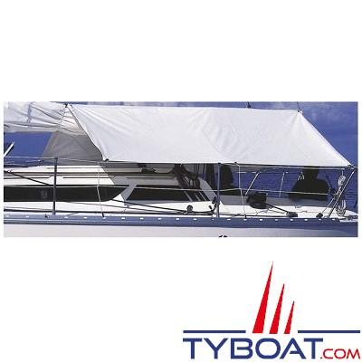 PLASTIMO - Taud de soleil et pluie - 100 % polyester - PVC Blanc - 2.60 mètres