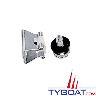 Bloqueur de porte inox 26 x 33 mm
