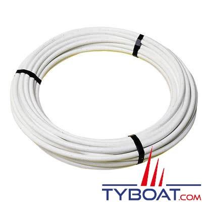 PLASTIMO - Câble inox gainé plastique blanc Ø 9 mm pour filières - 50 mètres