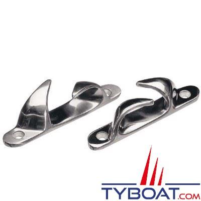 Chaumard croisé inox longueur 114 mm pour cordage Ø 20 mm x2 (1 bâbord/ 1 tribord)