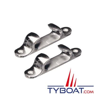 Chaumards droit inox longueur 151 mm pour cordage Ø 40 mm (x2 unités)