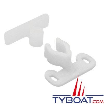 Cliquet de fermeture nylon blanc 31 x 35 mm