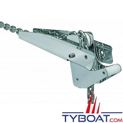 Davier à bascule inox 400 x 80 mm pour ancre 15 Kg maxi - chaîne Ø 8-10mm