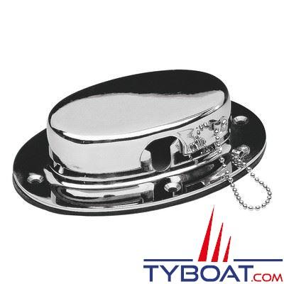 Écubier avec couvercle inox pour chaîne Ø6 à 12 mm - dimensions hors-tout 160 x 114 mm