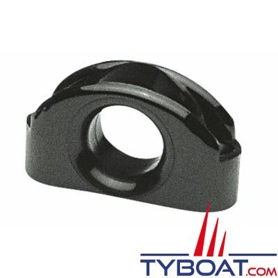 Filoir d'écoute polyamide noir 55x30 mm Ø cordage max 17 mm - à l'unité