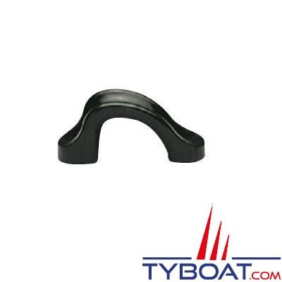 Filoir d'écoute polyamide noir 65x28 mm Ø cordage max 18 mm (x2)