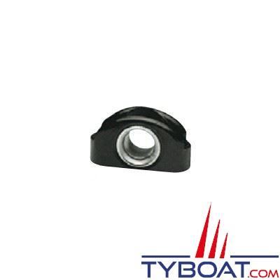 Filoir d'écoute polyamide noir bague inox 41x23 mm Ø cordage max 12 mm - à l'unité