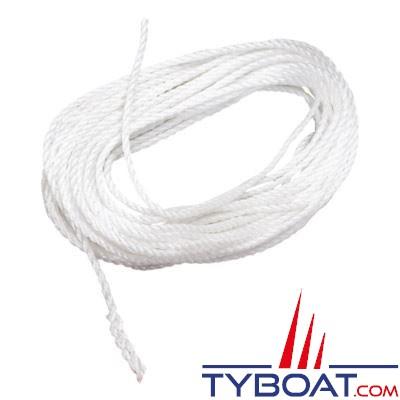 Ligne de jet pour bouée de sauvetage longueur 30 mètres Polypropylène flottant - Blanc