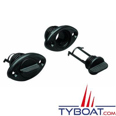 Nable polyamide avec joint torique avec trous et bouchon imperdable - noir