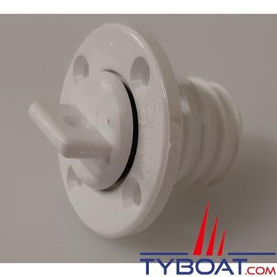 Plastimo - Nable polyamide ronde avec trou - blanche - Par 10