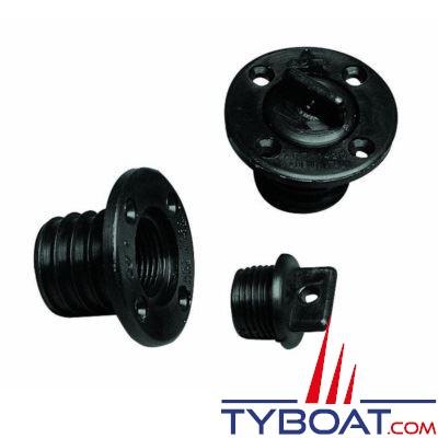 Nable polyamide ronde avec trou - noire
