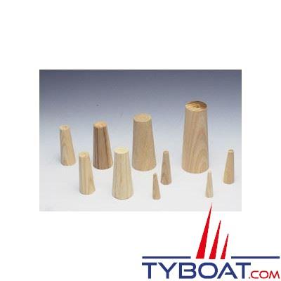 Pinoches en bois (Lots de 9)  5 tailles : max. 80 mm x Ø 35 mm