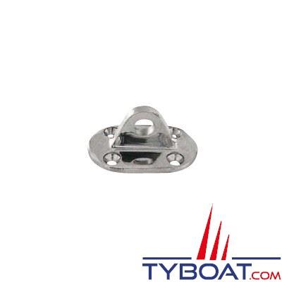 Pontet sur platine ovale inox 304 61x37x Ø 9,5 mm - 2 pièces