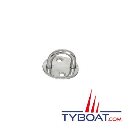 Pontets sur platine ronde inox 304 Ø 40mm - 2 unités