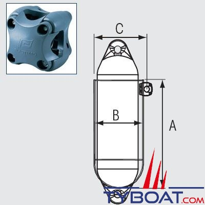 Support classique inox 1 pare-battage Ø 200 mm