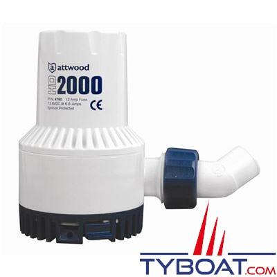 Pompe de cale Attwood Heavy Duty 2000 12V 7500L/H