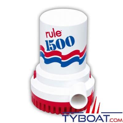 pompe de cale rule 1500 gph 12v 5670 l h rule rl002 tyboat com. Black Bedroom Furniture Sets. Home Design Ideas