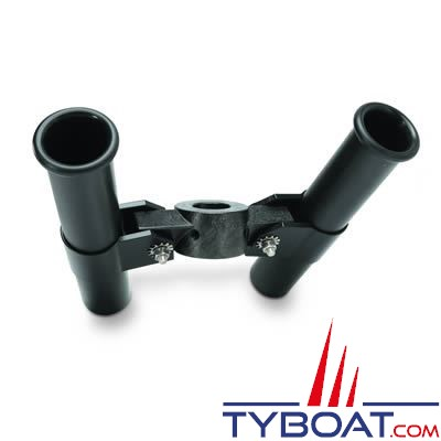 Porte-canne double en plastique pour treuil de pêche Cannon fixation sur Downrigger montage avant